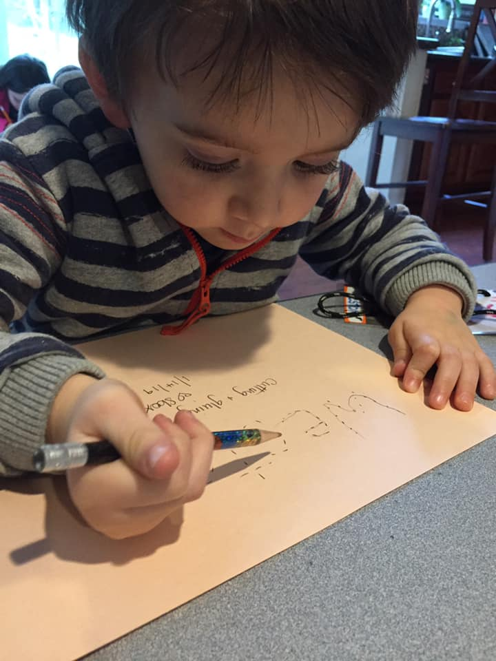 Working on letters